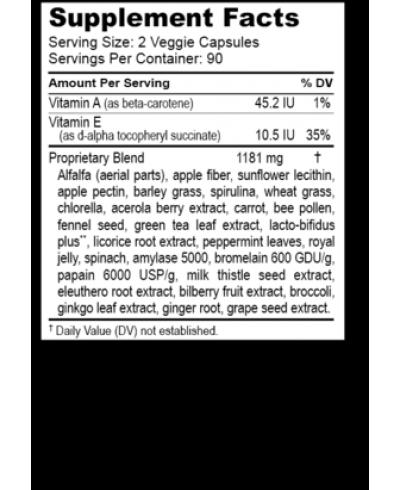 Hardy Greens & Probiotics (180 Capsules)